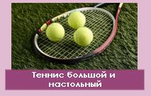 Теннис большой и настольный